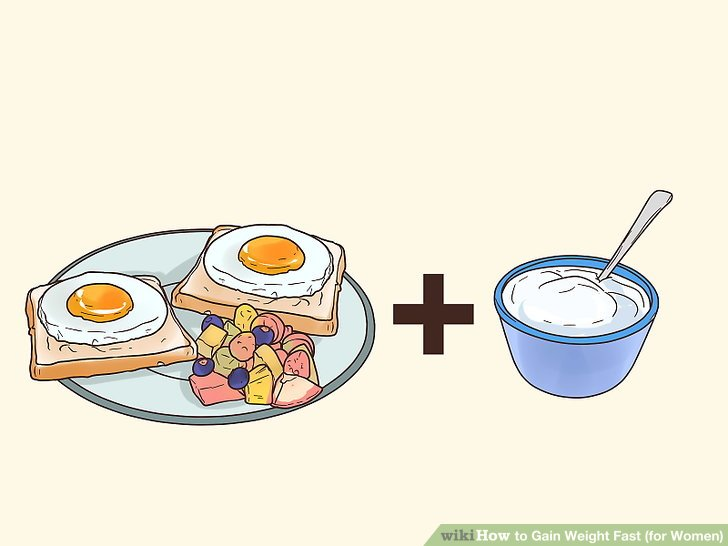 Konsumieren Sie zusätzlich 500 Kalorien pro Tag.