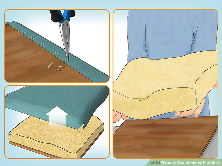 How to Reupholster Furniture 10 Steps with Pictures