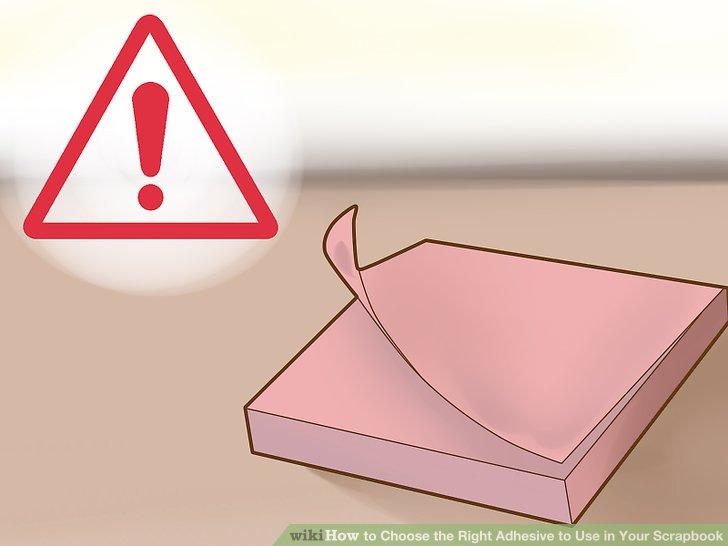 Vermeiden Sie saure Klebstoffe.