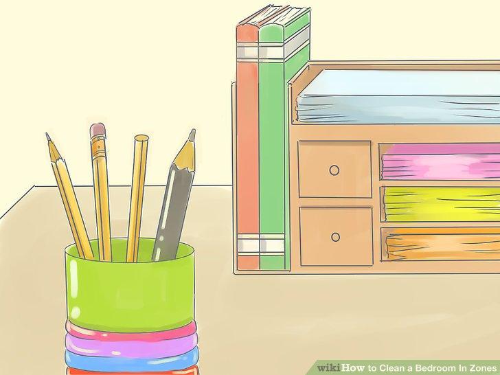 Fügen Sie einige Bleistiftdosen und mehrere Schreibtischorganisatoren hinzu.