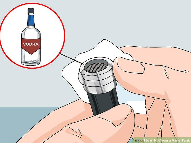Mit hochprozentigem Alkohol abwischen.