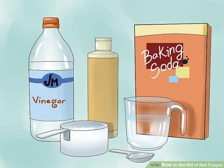 Machen Sie ein Backpulver, Peroxid, weißen Essig und Salzpeeling.