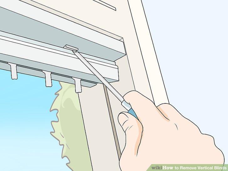 Lösen Sie die Federbügel der Schienenhalterungen mit einem flachen Schraubendreher.