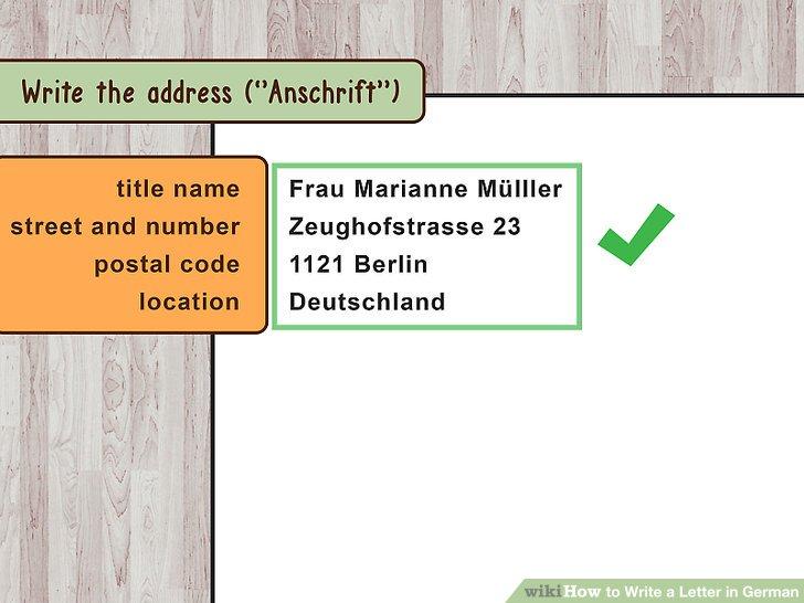 address order on letter