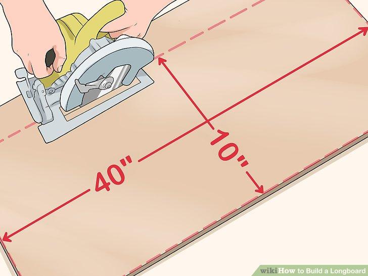 Schneiden Sie Ihr Sperrholz (oder Hartholz) auf die gewünschte Größe.