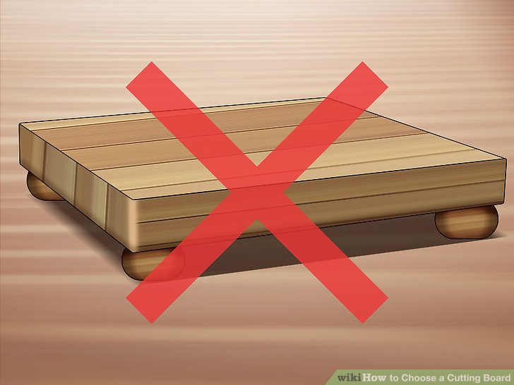 "Avoid cutting boards with ""feet."