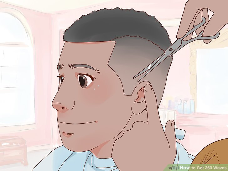 Visit the barber or a hairdresser to get a haircut.
