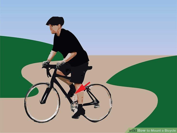 Setzen Sie Ihren anderen Fuß auf das Pedal, drücken Sie nach vorne und Sie fahren!