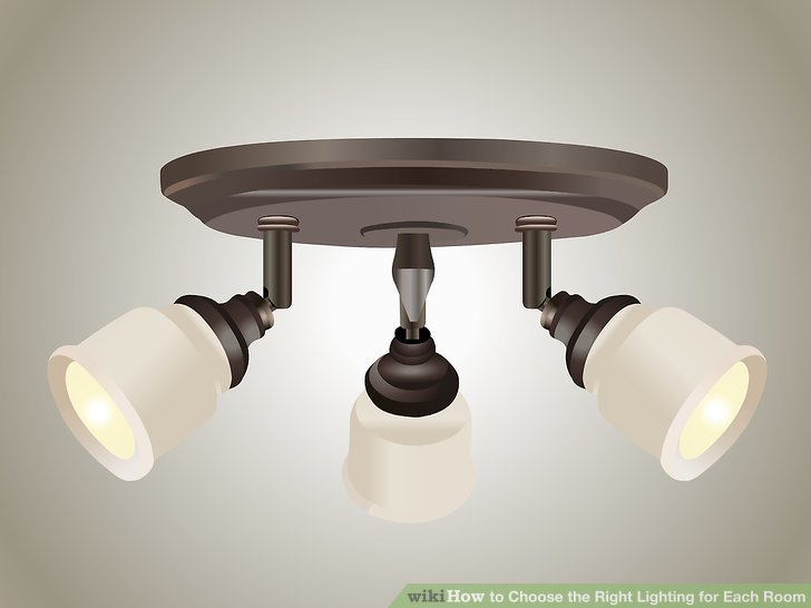 Go with decorative fluorescent fixtures centered over a workspace.