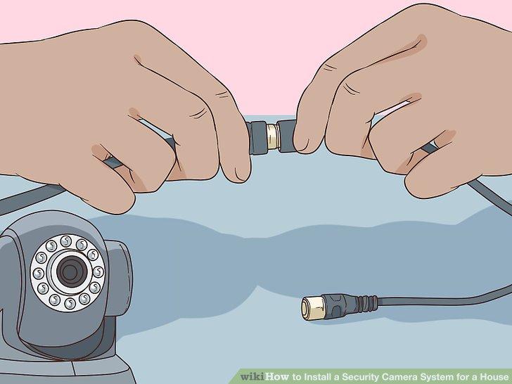 Schließen Sie eine verdrahtete Kamera an Ihren DVR an.