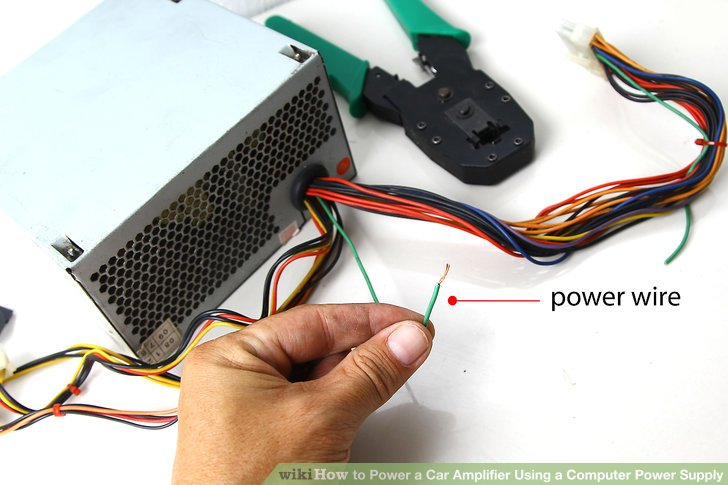 wiring diagram for car amplifier acme control transformer how to power a using computer supply image titled step 2