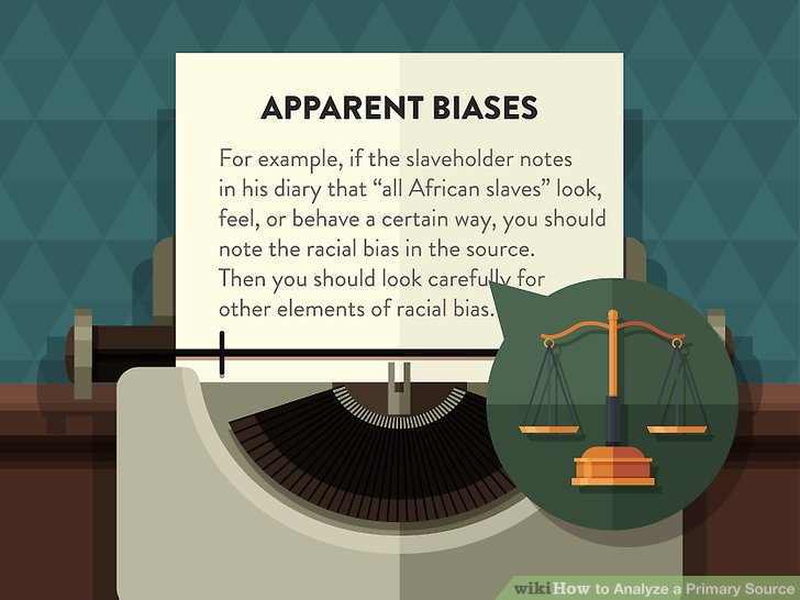 Write down any immediately apparent biases you see.