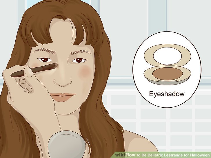 Use a brown eyeshadow to add contrast and definition to your face.