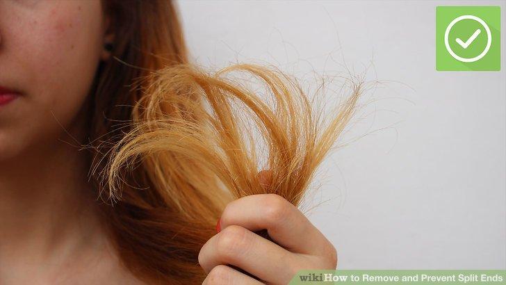 Überprüfen Sie, ob das Haar beschädigt ist.