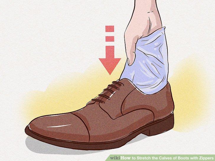 Legen Sie einen Beutel mit Wasser in Ihre Stiefel und legen Sie sie für eine Erkältung in den Gefrierschrank.