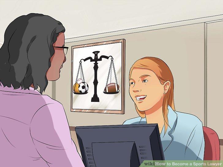 Praktikant bei einem Sportanwalt.