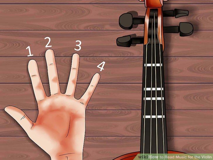 Ordnen Sie jeden Finger der linken Hand den Bünden zu.