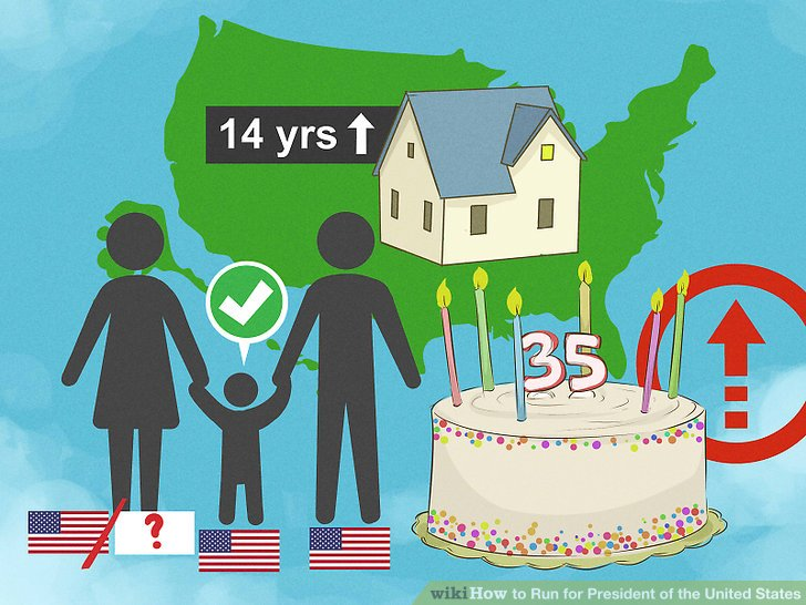 Stellen Sie sicher, dass Sie mindestens 35 Jahre alt sind und ein in den USA geborener Bürger sind.
