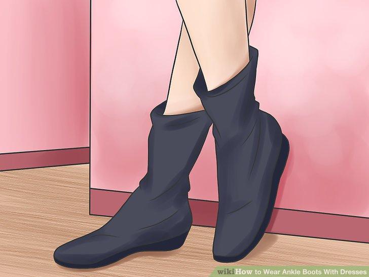 Tragen Sie Stiefel aus mattem Material, wenn Sie große Füße haben.