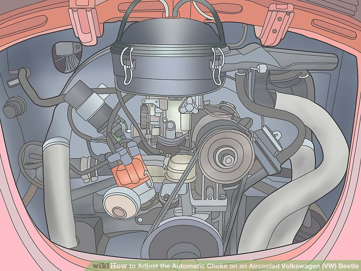How To Adjust The Automatic Choke On An Aircooled Volkswagen ... Air Cooled Vw Wire Diagram on