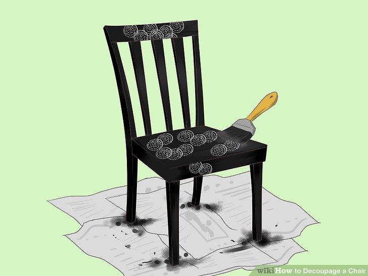 Beenden Sie das gesamte Design, indem Sie eine Schicht Decoupage-Kleber über alles Leim streichen.