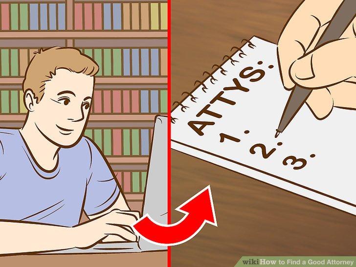 Machen Sie eine Liste der potenziellen Anwälte, die Sie in Ihrer Nähe gefunden haben.