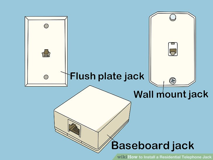 phone jack wiring diagram dsl 2 pin flasher relay how to install a residential telephone with pictures image titled step 10