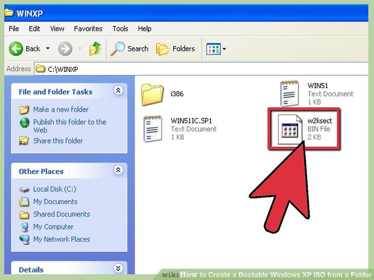 How to Create a Bootable Windows XP ISO from a Folder