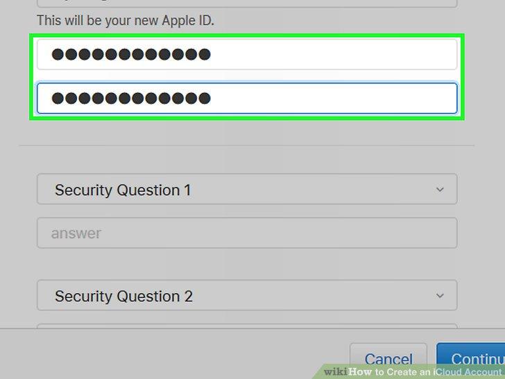 Geben Sie ein Passwort ein und bestätigen Sie es.
