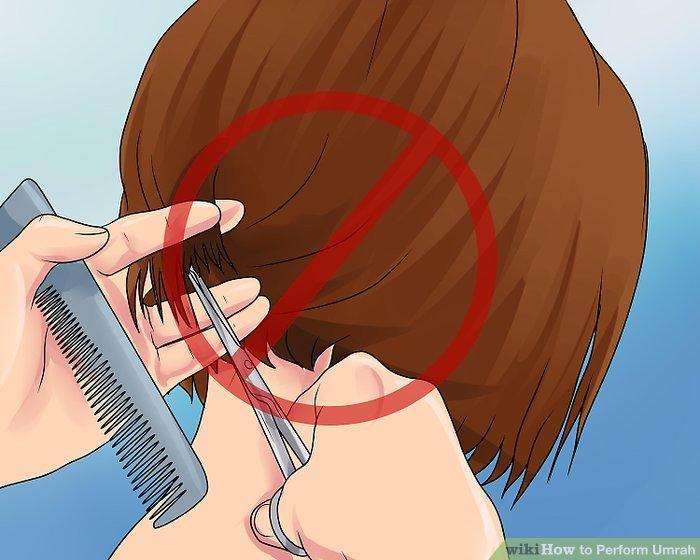 Lassen Sie sich beim Hajj nicht die Haare schneiden.