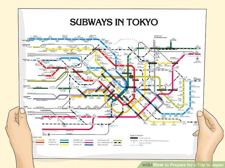 Gewöhnen Sie sich an U-Bahn-Karten.
