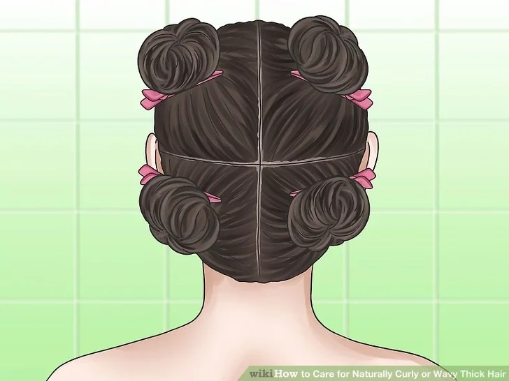 3 Ways To Care For Naturally Curly Or Wavy Thick Hair Wikihow