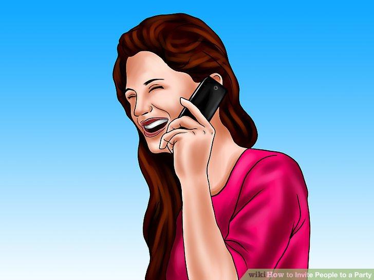 Rufen Sie Ihre Gäste zu einem Zeitpunkt an, an dem sie wahrscheinlich keine anderen Verpflichtungen haben.
