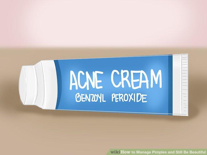 Verwenden Sie topische Akne-Medikamente.