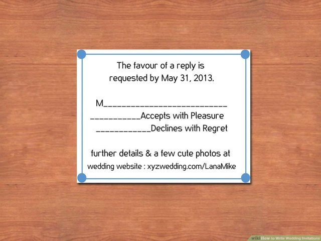 How to Write Wedding Invitations (with Pictures) - wikiHow