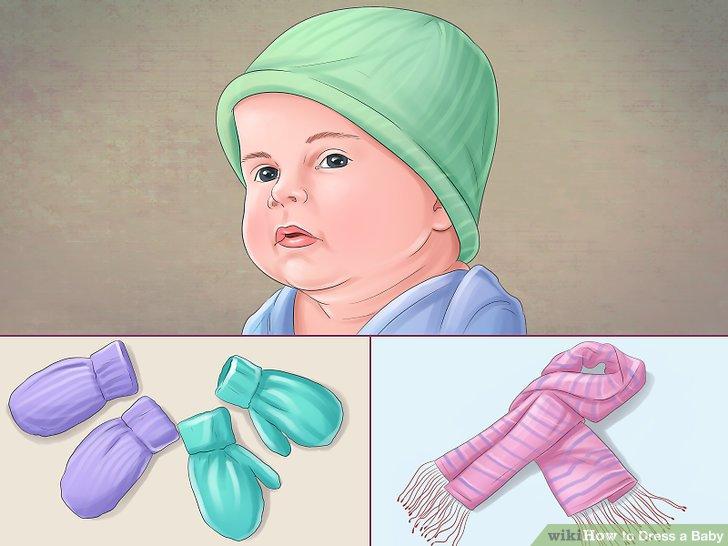 Bedecken Sie die Extremitäten Ihres Babys.