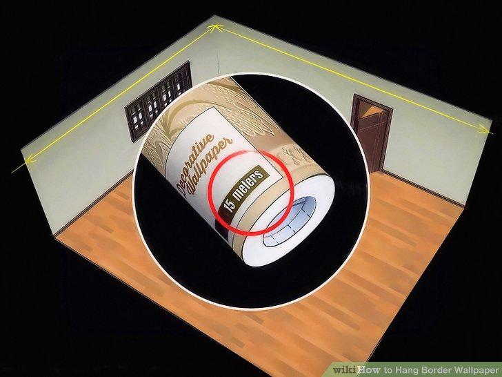 Berechnen Sie, wie viele Randrollen Sie zum Aufhängen von Tapeten benötigen.