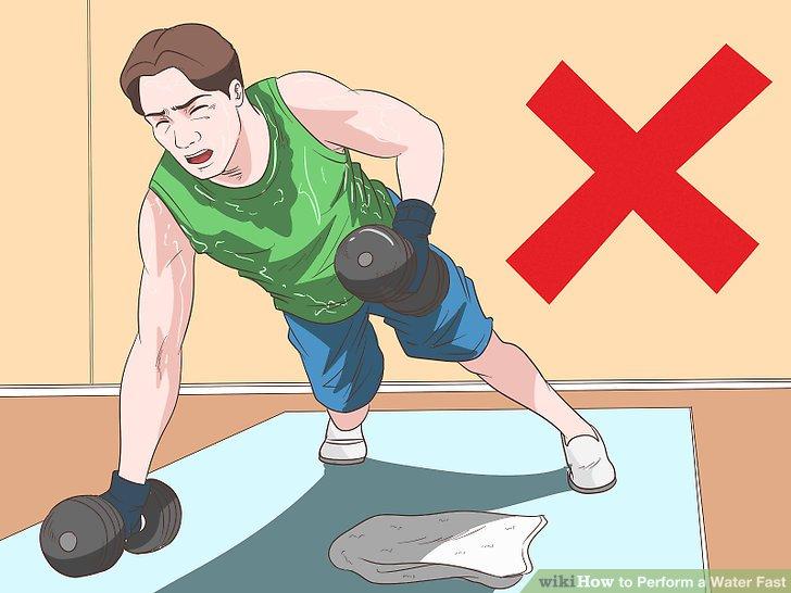 Vermeiden Sie während dieser Zeit intensives Training.