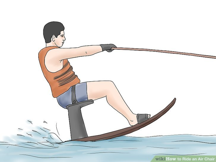 hydro chair water ski chairs for bathroom vanity how to ride an air with pictures wikihow image titled step 10