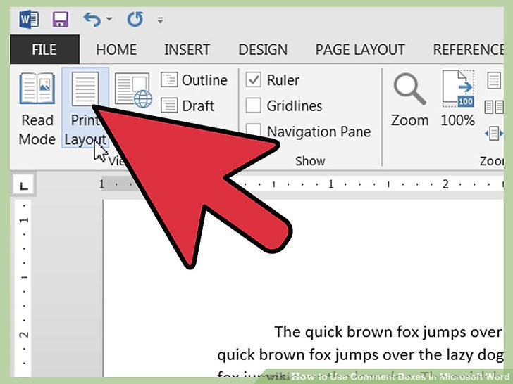 Color Ink Budget By Printing Everything With Image Titled Use Comment Boxes In Microsoft Word Step