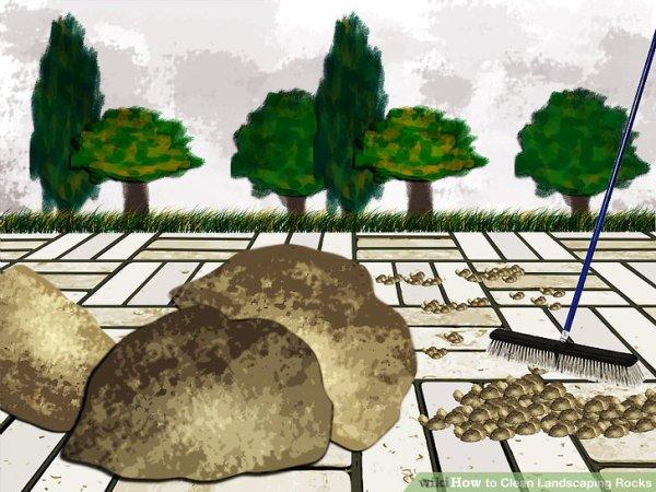 clean landscaping rocks