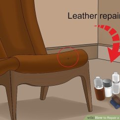 Leather Chair Patch Purple Velvet Chairs 3 Ways To Repair A Wikihow Image Titled Step 1