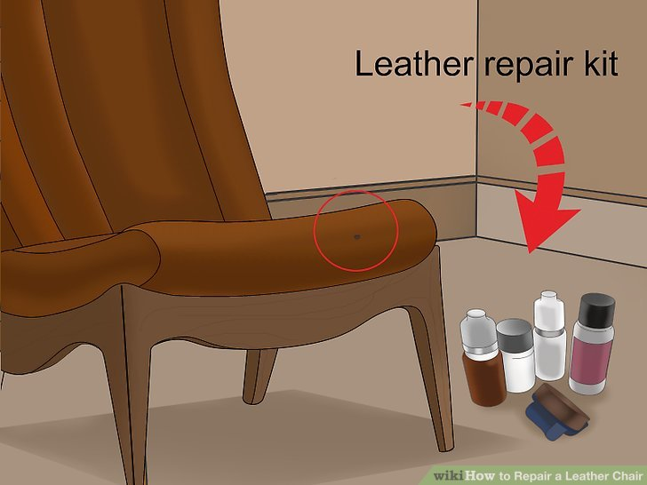 leather chair repair mickey mouse covers 3 ways to a wikihow image titled step 1