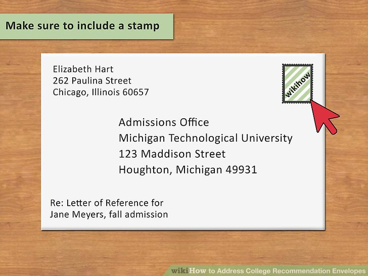 How To Address College Recommendation Envelopes 12 Steps