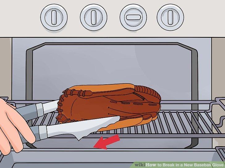 Ziehen Sie den Handschuh vorsichtig aus dem Ofen.