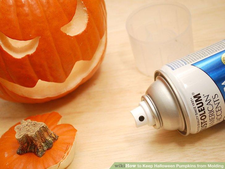 Verwenden Sie kein Acrylspray, um einen Kürbis zu konservieren.