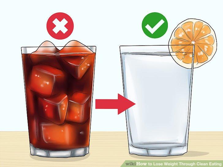 Versuchen Sie, zuckerhaltige Getränke durch Wasser zu ersetzen.
