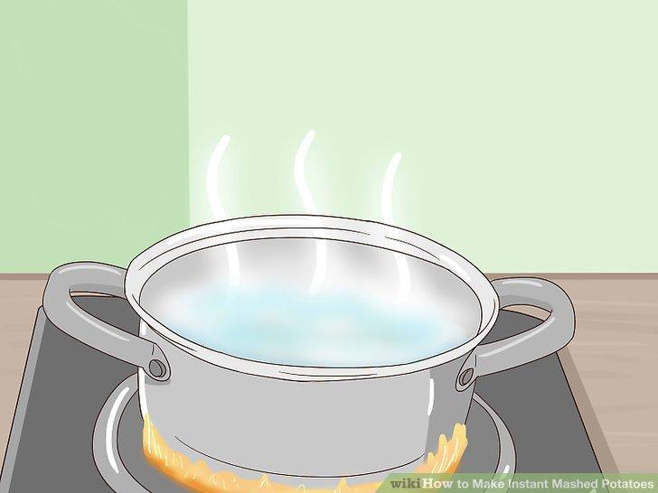 Wasser zum Kochen bringen.