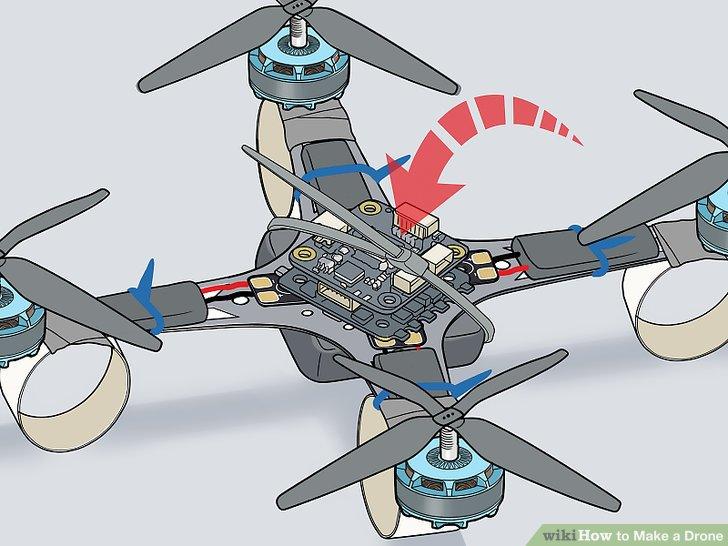 Befestigen Sie den Flight Controller mit Kabelbindern am Drohnenrahmen und verbinden Sie ihn.