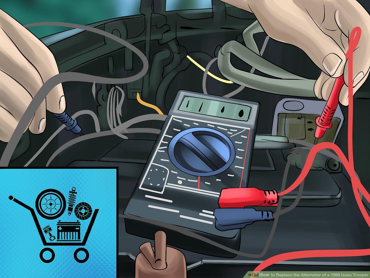hight resolution of how to replace the alternator of a 1998 isuzu trooper isuzu alternator wiring for 98